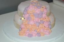 Gâteau Cascade de Roses 60 ans (2)